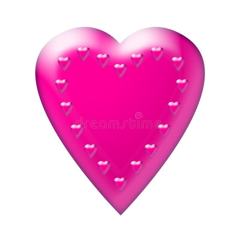 serce 2 różowe obrazy royalty free