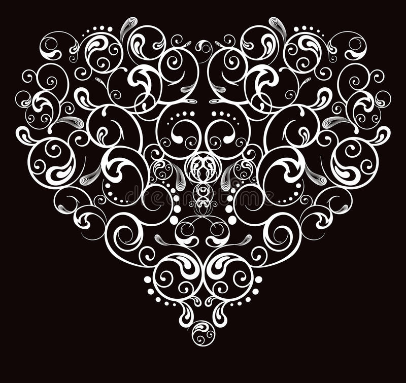 serce abstrakcjonistyczny wzór ilustracji