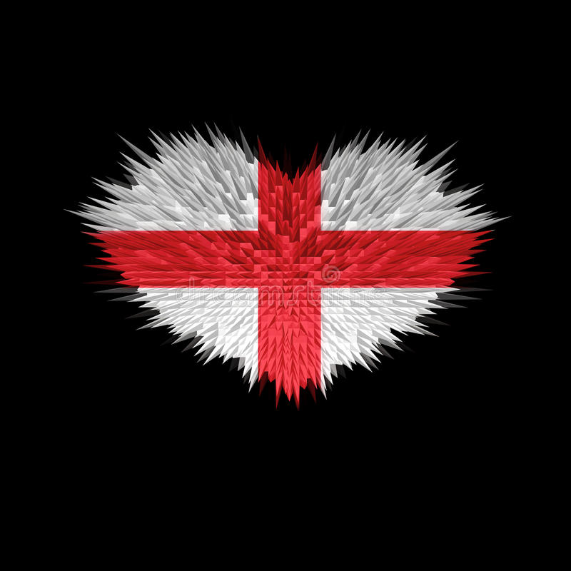 Serce Anglia flaga ilustracji