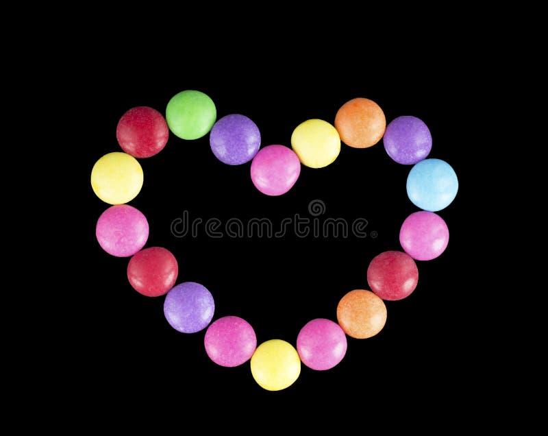 Serce barwiony cukierek obrazy stock