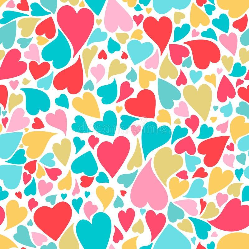 Serce bezszwowy wzór w pastelowych kolorach ilustracja wektor