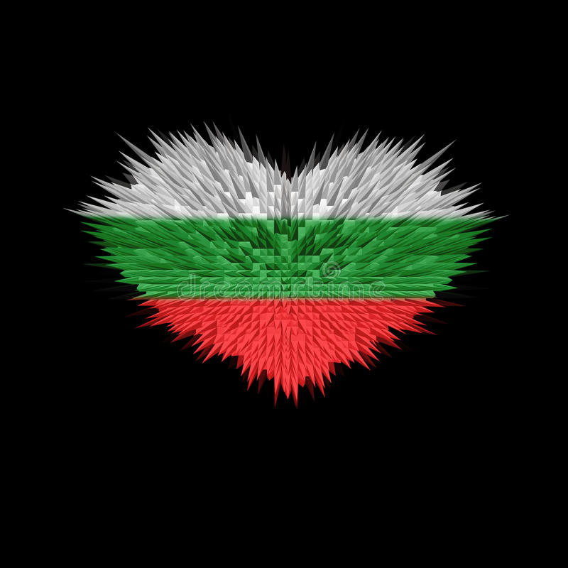 Serce Bułgaria flaga royalty ilustracja