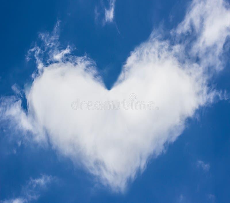Serce chmury zdjęcie stock