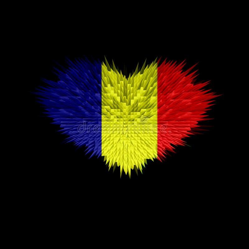 Serce Czad flaga ilustracji