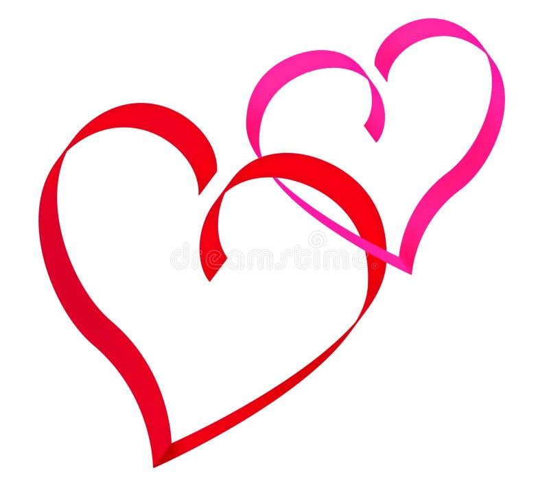 serce czerwień dwa zdjęcie royalty free