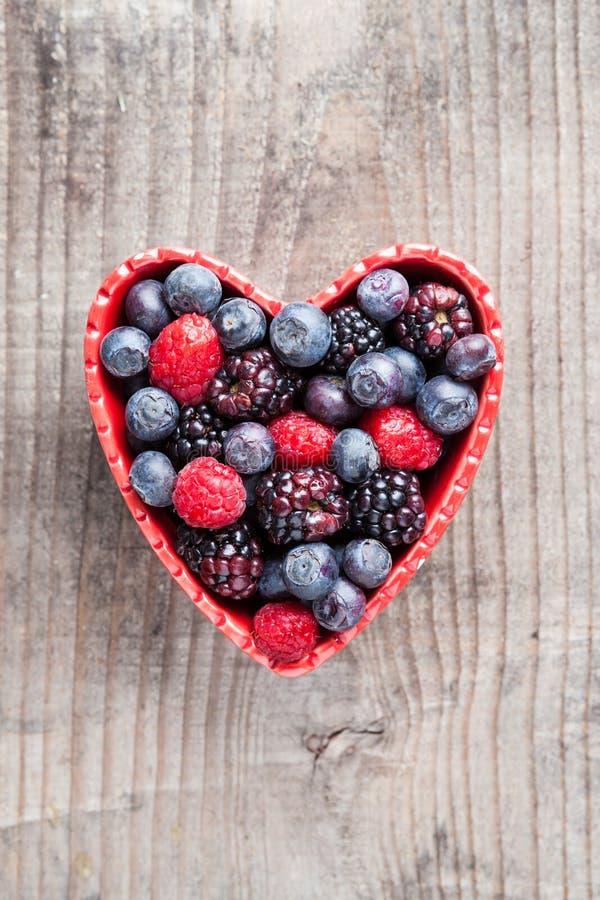 Serce czerwona owoc obraz royalty free