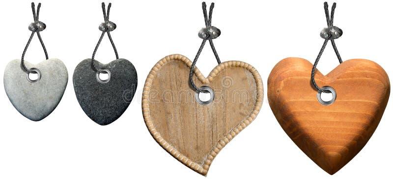 Serce dekoracja z stal kablem ilustracja wektor