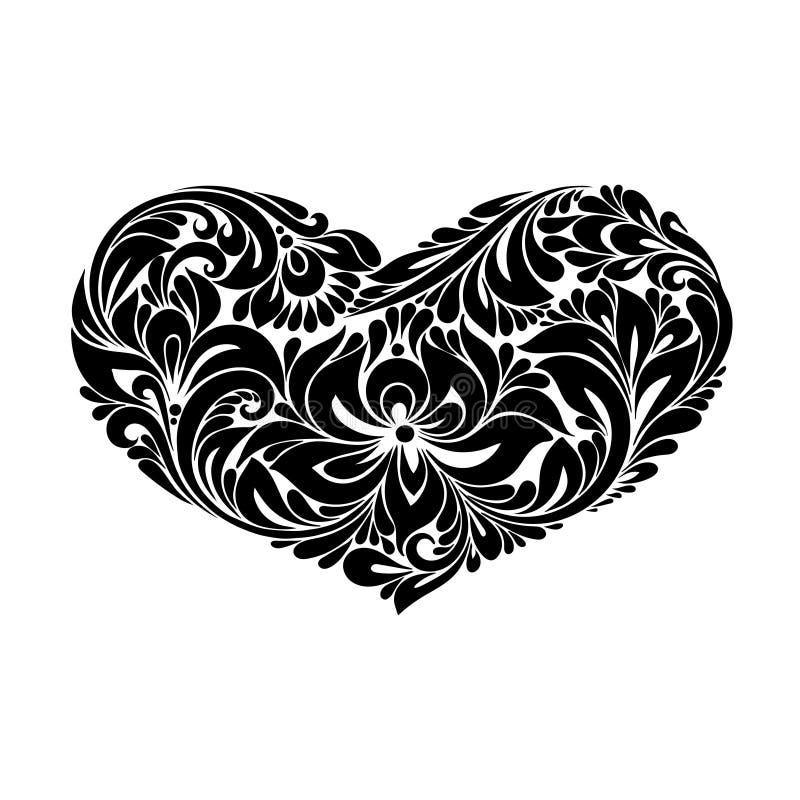 serce dekoracyjny royalty ilustracja