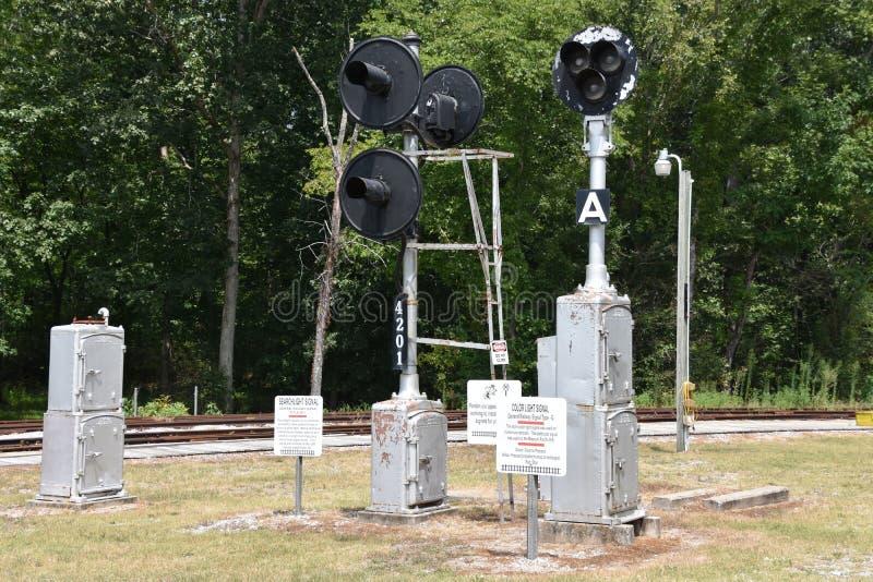 Serce Dixie linii kolejowej muzeum w Alabama zdjęcia royalty free