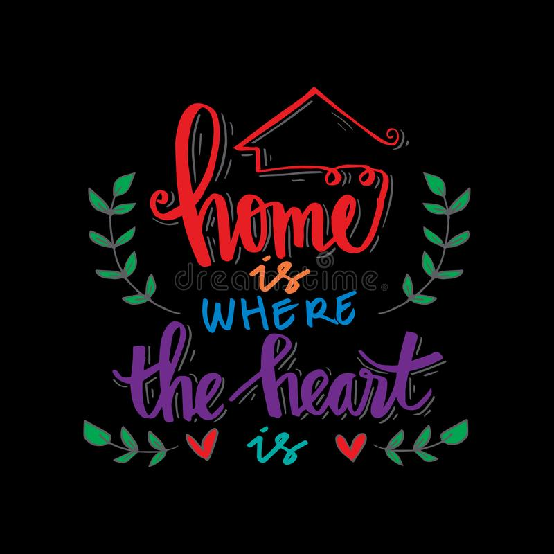 serce domu royalty ilustracja