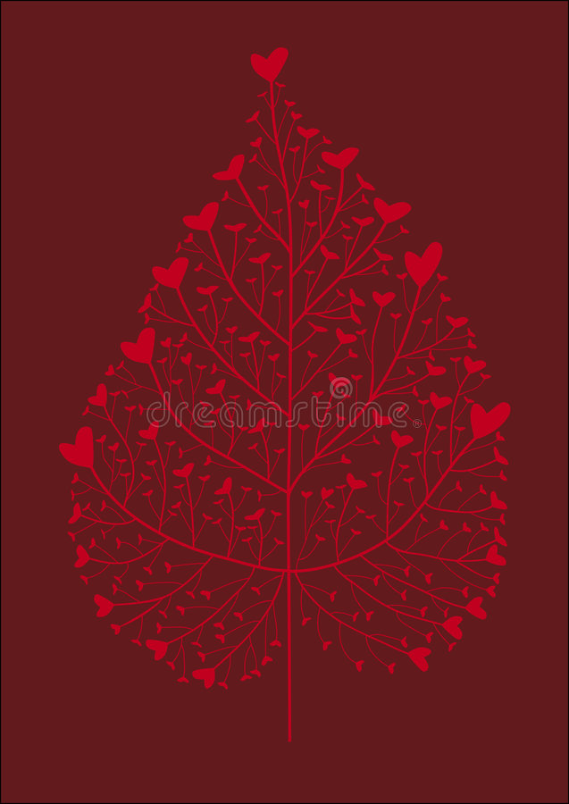 serce drzewa ilustracji