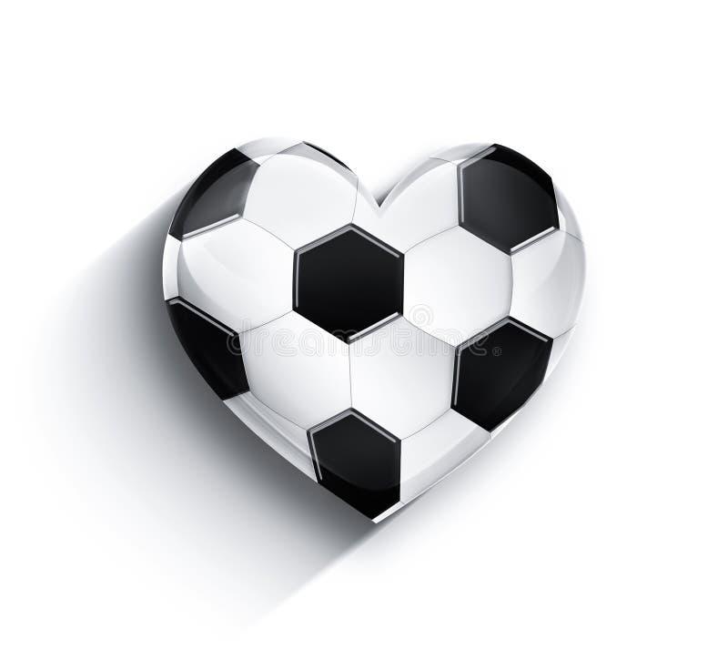 serce futbol ilustracji