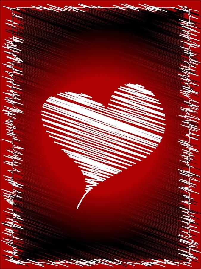 serce gryzmolący ilustracja wektor