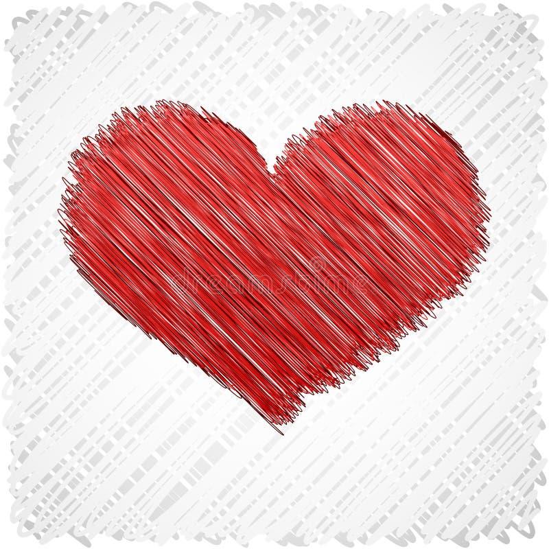 serce gryzmolący kształt ilustracji