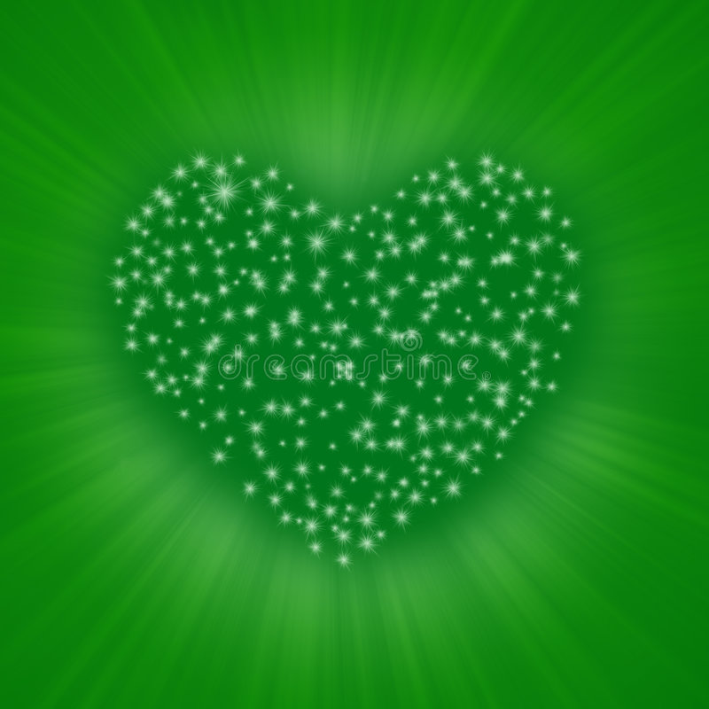 serce gwiazda royalty ilustracja