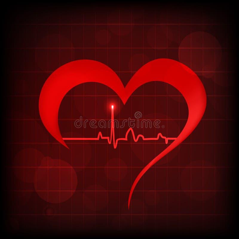 Serce i bicia serca symbol royalty ilustracja