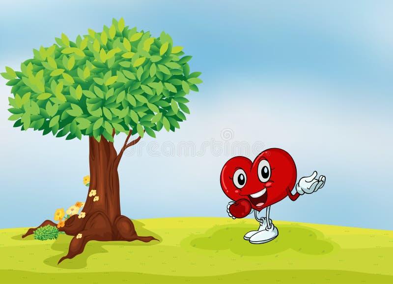 Serce i drzewo ilustracji