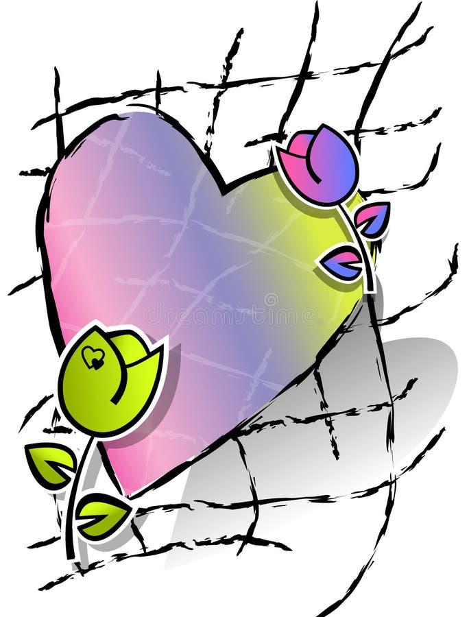 Download Serce i kwiaty ilustracji. Ilustracja złożonej z romans - 28955305