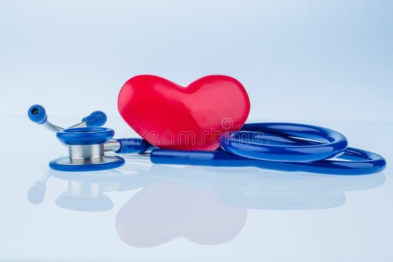 Serce i stetoskop fotografia royalty free