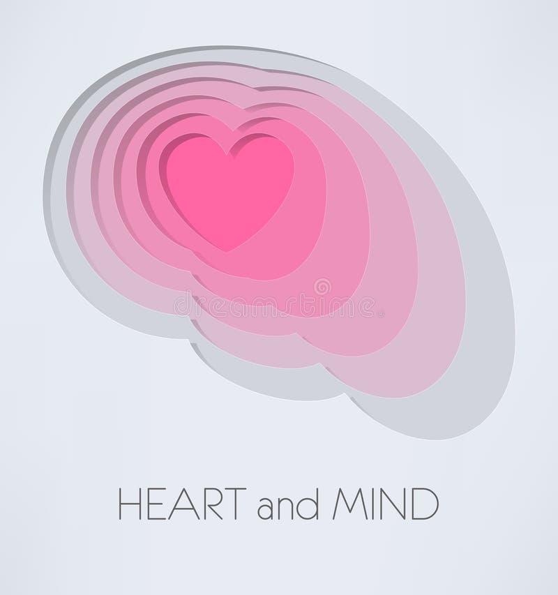 Serce i umysł ilustracji