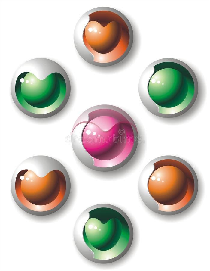 serce ikona logo obraz stock