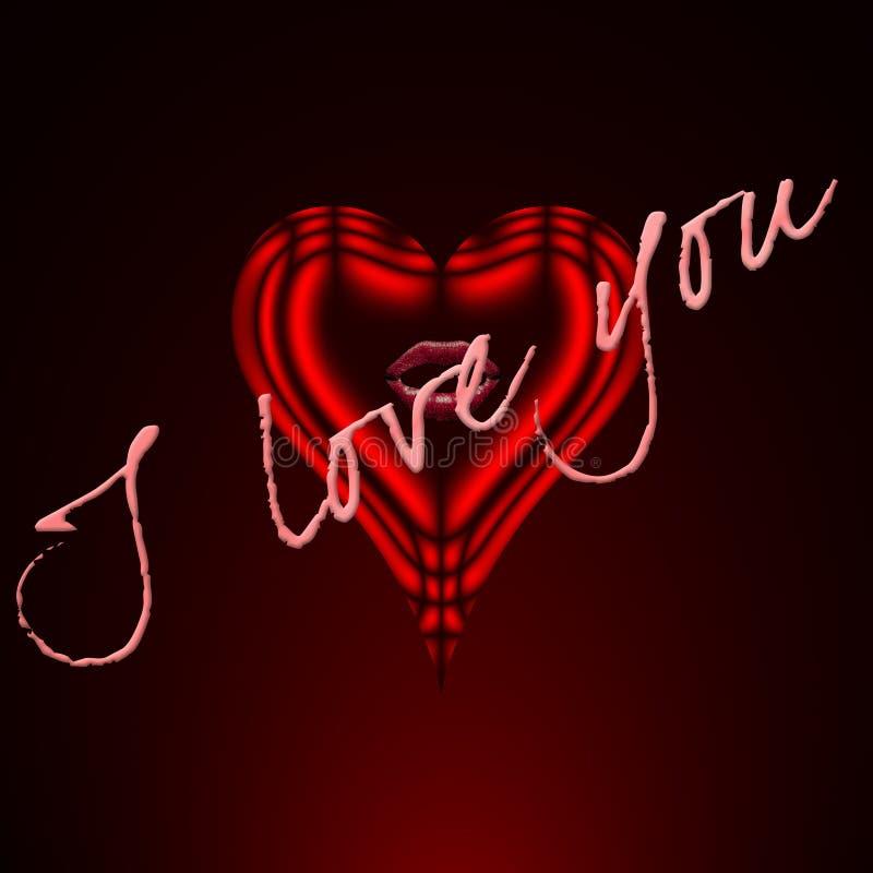 serce ja kocham czerwień ty ilustracja wektor