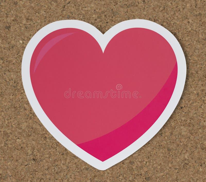 Serce jak miłość romansu ikona zdjęcia stock