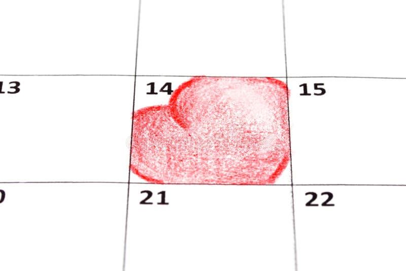 serce kalendarzowa strona zdjęcie royalty free