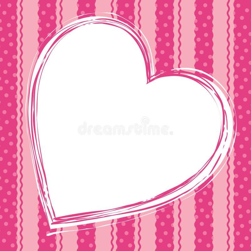 serce karciana miłość ilustracji