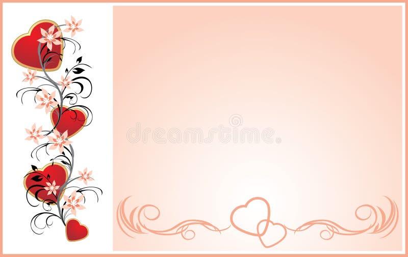 serce karciany kwiecisty ornament ilustracji