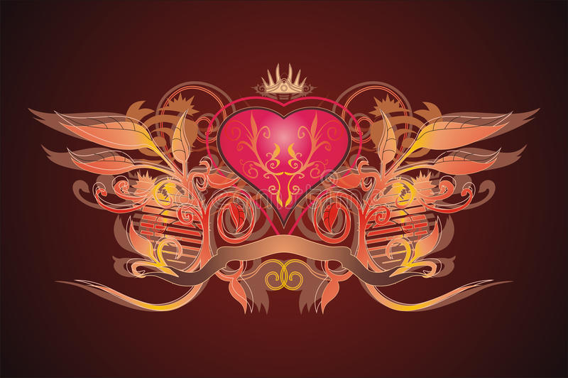 serce królewski royalty ilustracja