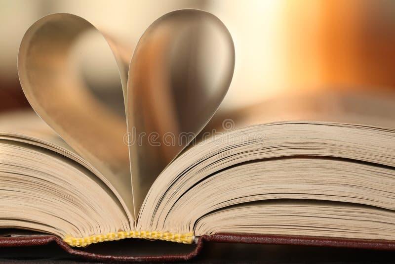 Serce książka opuszcza tło zdjęcie royalty free