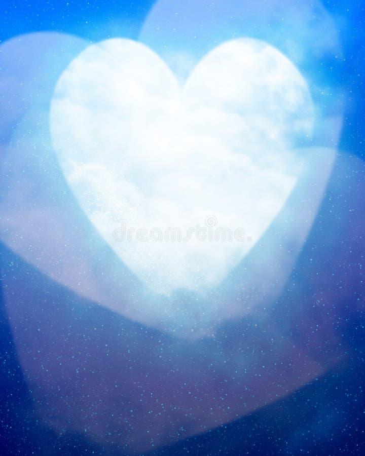 Serce kształtna księżyc ilustracji