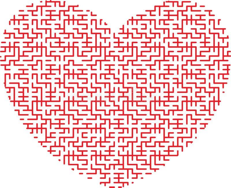Serce kształtny labirynt ilustracja wektor