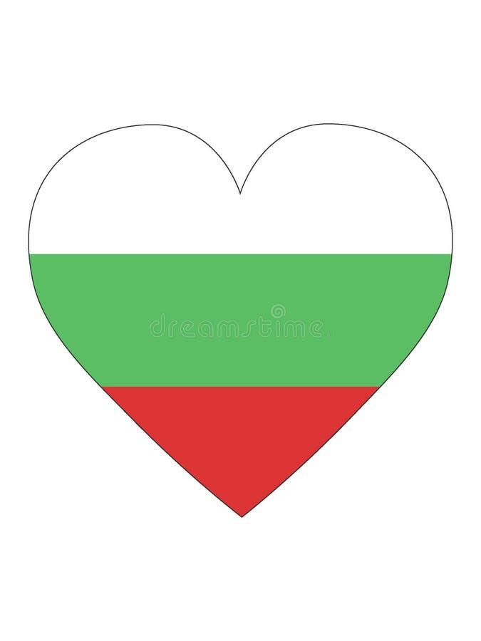 Serce Kształtująca flaga Bułgaria ilustracji