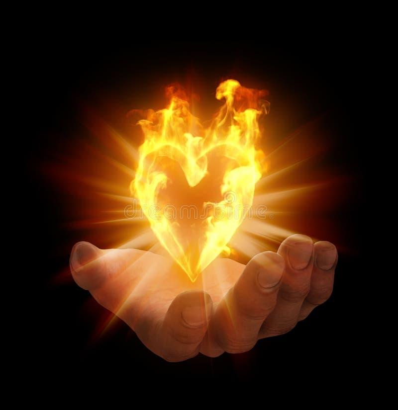Serce kształtujący płomień ilustracji