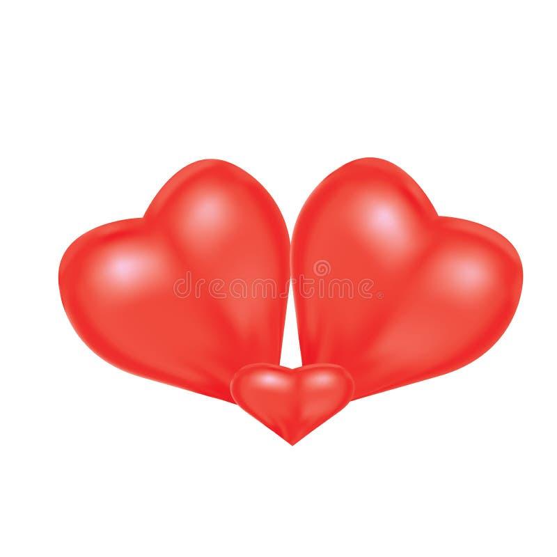 Serce kształty dla wyrażać miłości rodzina royalty ilustracja