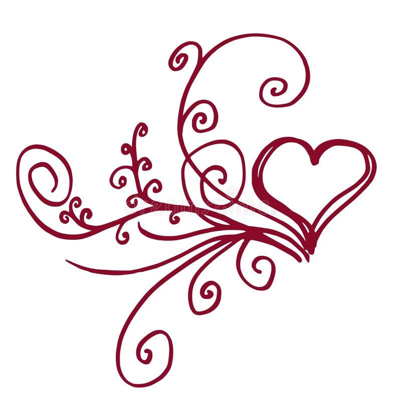 serce kwiecisty ilustracji