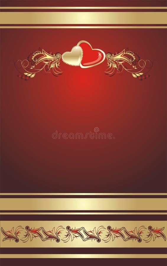 serce kwiecisty ornament royalty ilustracja