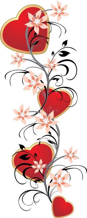 serce kwiecisty ornament ilustracja wektor