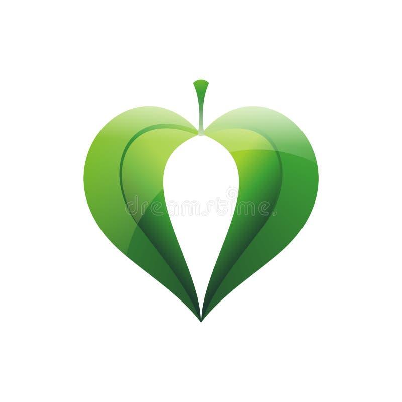 serce liście
