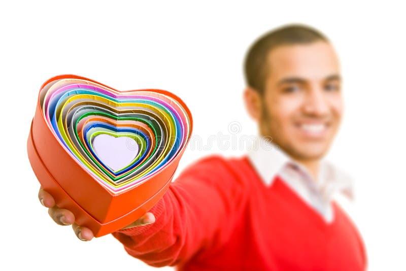 serce mężczyzna zdjęcie stock