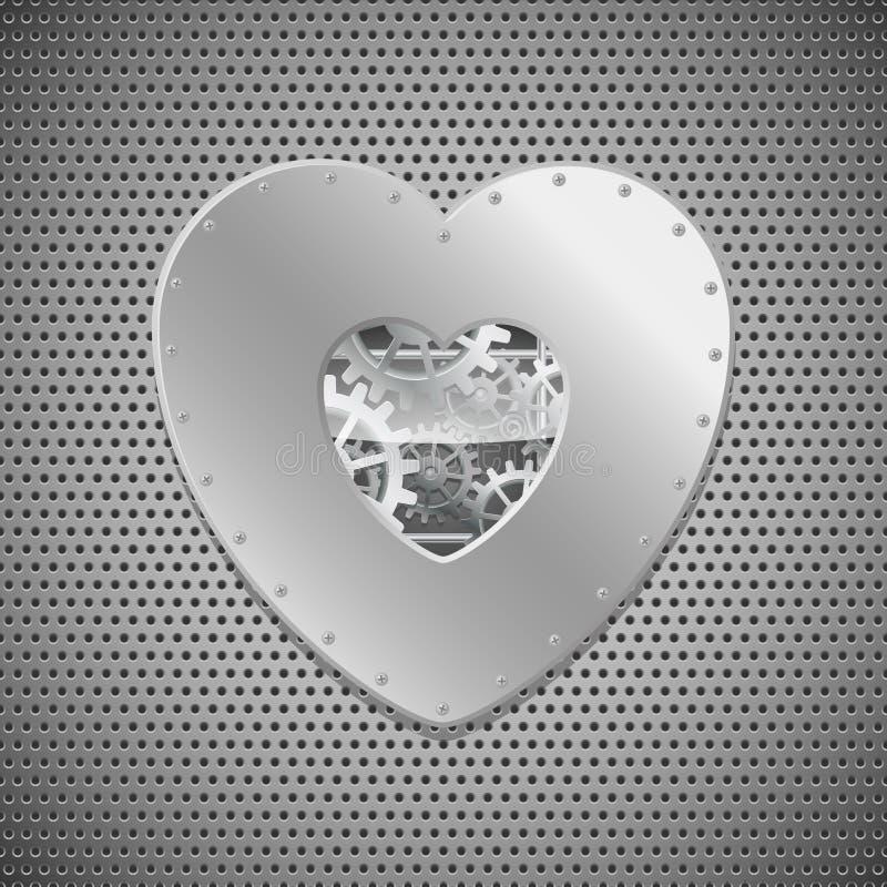 serce machinalny ilustracja wektor