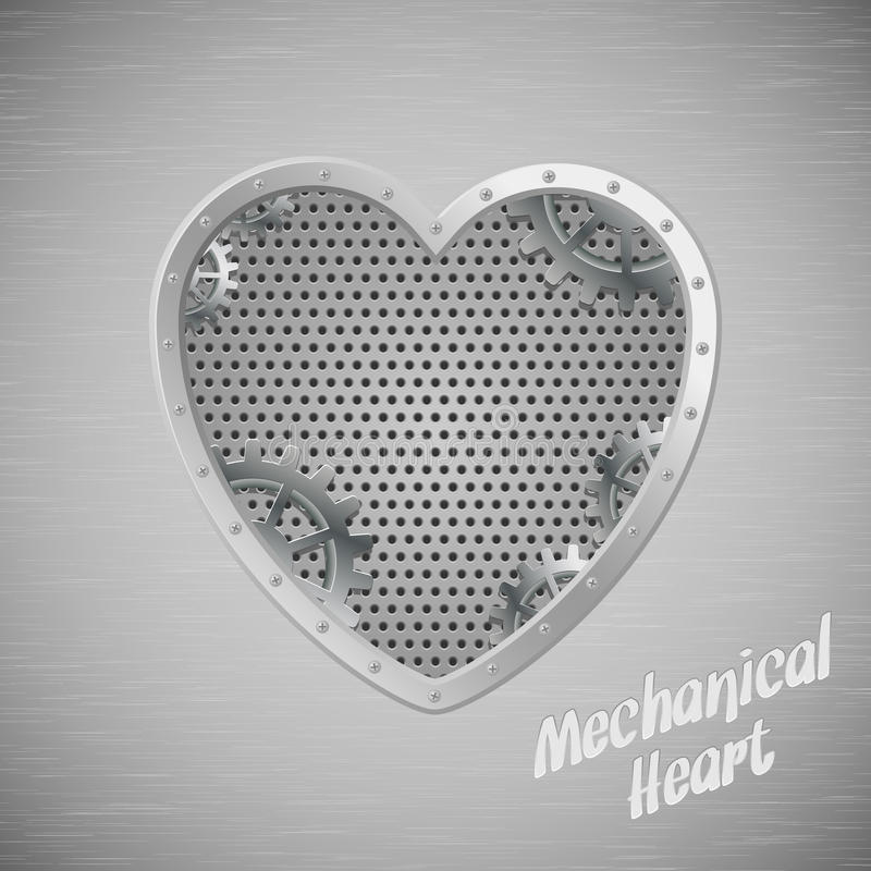 serce machinalny ilustracji