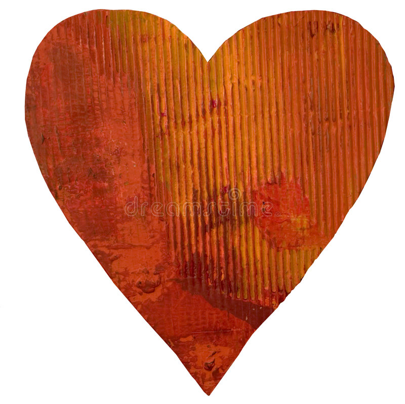 serce malowanym odizolowane royalty ilustracja