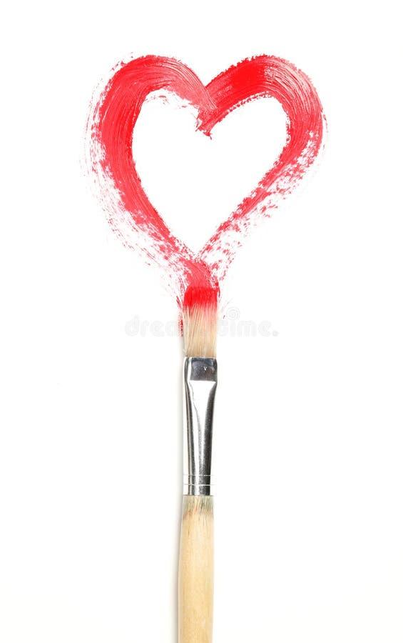 serce malujący obraz stock