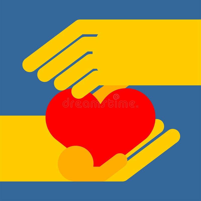 serce mi gospodarstwa Symbol mi?o?? r?wnie? zwr?ci? corel ilustracji wektora ilustracji
