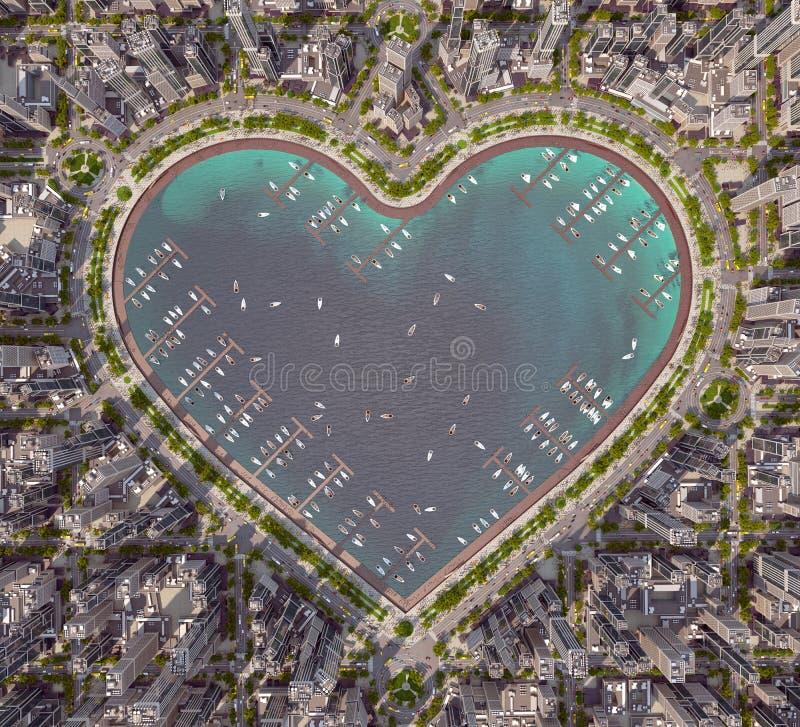 Serce miasto ilustracja wektor