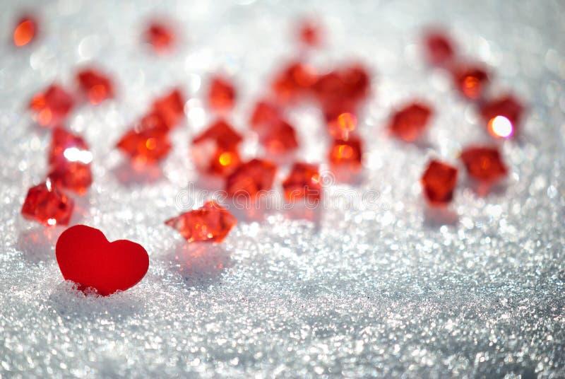 Serce na śniegu zdjęcie royalty free