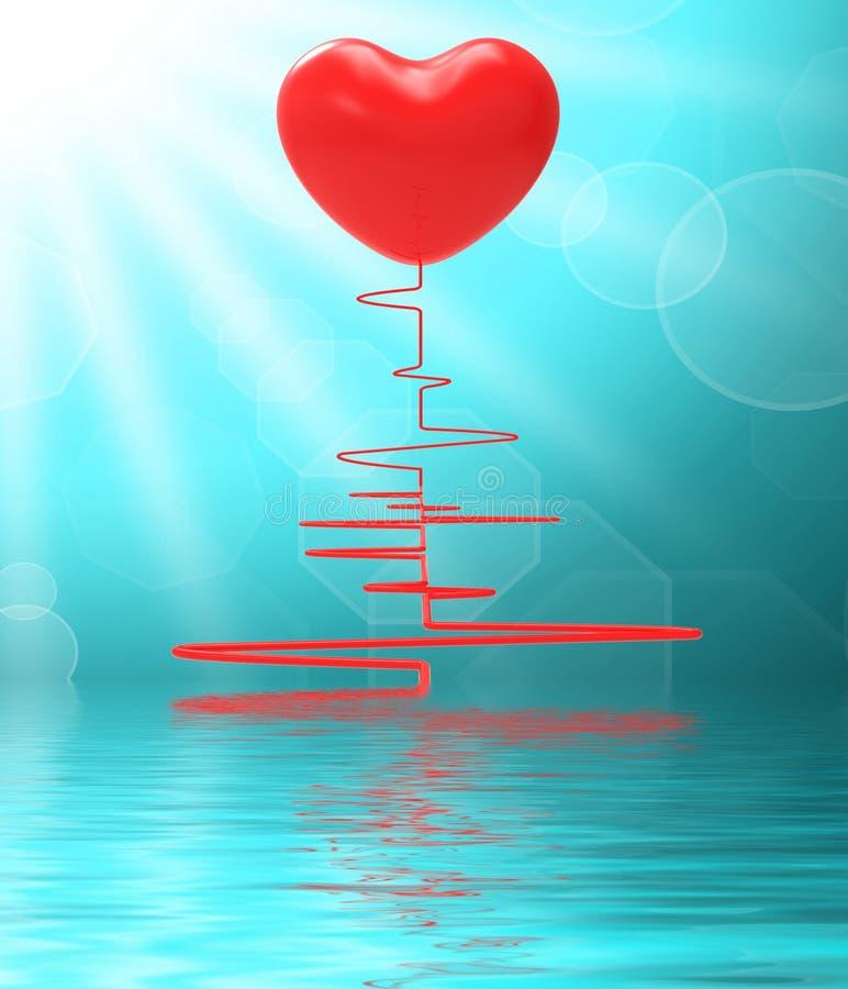 Serce Na Electro Wystawia Zdrowego związek Lub Namiętnego Mar ilustracji